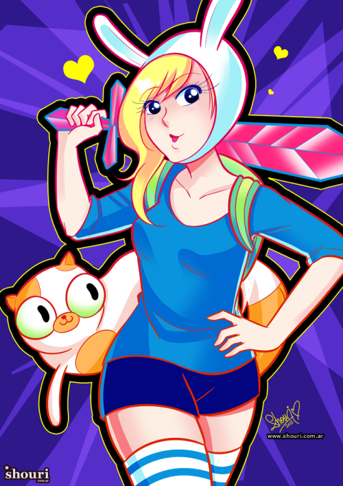 shouri:  Fionna and Cake! Get prints and more at my store. (Mangastudio/Photoshop)