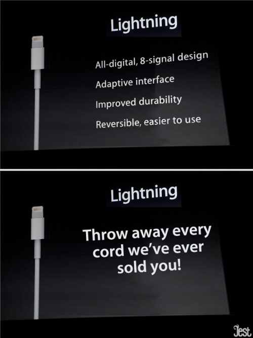 jestcomedy:  Honest iPhone 5 Keynote Slides Click through and roll over for the truth behind what Tim Cook and Apple were pushing this afternoon.