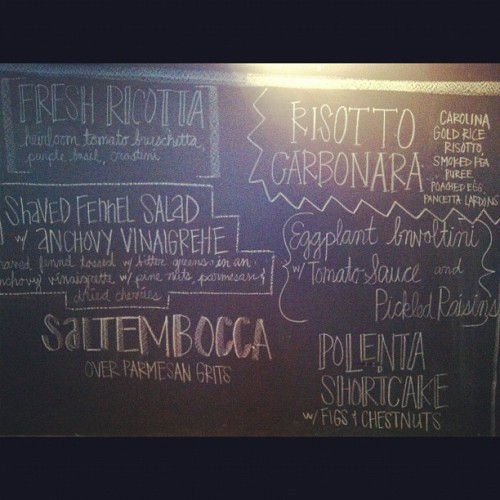 Menu for tomorrow's Feast of San Gennaro @citygrit! Gonna be awesome…4 seats left! (Taken with Instagram)