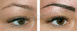 Before and after permanent makeup.