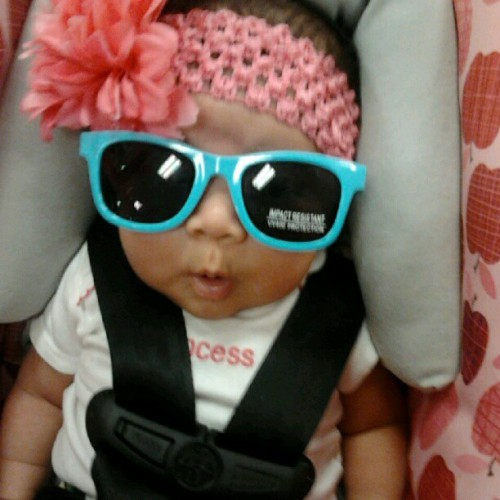 My baby's rocking them glasses ! Lol (; (Taken with Instagram)