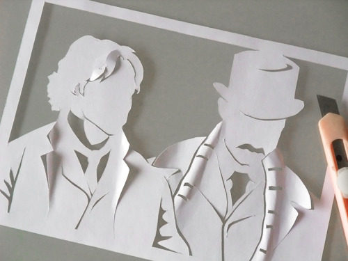 """A Study in Paper No. 4"" by ldhenson (deviantart.com)  This is just neat…"