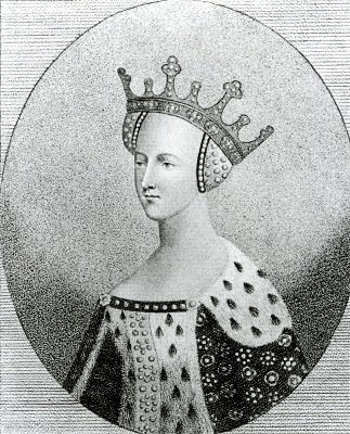 historysquee:  Queens of England, Katherine of Valois, 1401 - 1437 Katherine was born at the Hotel-St-Pol, on 27th October 1401, daughter of King Charles VI of France and Isabella of Bavaria. Katherine's childhood was unstable due to her father's madness and the political instability that this and the Hundred Years' War caused in France. As part of a treaty for peace, Katherine was married to Henry V of England on 4th July 1420. Katherine was crowned in Westminster Abbey on 23rd February 1421, by this time she was already pregnant.  Katherine gave birth to the future Henry VI on 6th December 1421, his father would never see the child as he died of dysentery in France on 31st August 1422. Katherine was left a widow, with a young child, at the age of 20. Her future remarriage was a cause for concern with the Kings councillors, a bill was even passed in 1428, stating that a dowager queen could not remarry without consent from the King.  Katherine fell in love with Owen Tudor, probably the keeper of the queen's wardrobe. They were married secretly, probably around 1431, although later this was disputed, as no records to prove their marriage could be found. Around this time Katherine left the Kings household and moved to her own establishment. Katherine and Owen between four and six children and lived quietly together for several years. Their lives were shattered when Owen Tudor was arrested in 1436 on charges of treason, Katherine was pregnant at the time. Katherine entered Bermondsey Abbey after his arrest and died there, separated from her husband, shortly after giving birth to her final child.  Owen lived until 1461, when he was executed fighting on the side of his stepson, Henry VI, during the War of the Roses. Henry VI promoted his Tudor siblings at court, arranging good marriages for them and showing them favour. It was from this Tudor line that Henry VII came, his right to the throne coming from his mother, Margaret Beaufort, who had married Katherine's son, Edmund Tudor.  Katherine's corpse became a tourist attraction years after her death. In 1669, Samuel Pepys wrote in his diary of how he kissed Katherine on his birthday :   I did see the body of Queen Catherine of Valois, and had the upper part of the body in my hands, and I did kiss her mouth, reflecting upon it I did kiss a Queen: and this my birthday and I thirty-six years old and I did kiss a Queen.  Katherine's body was not re-interred properly until the reign of Queen Victoria.