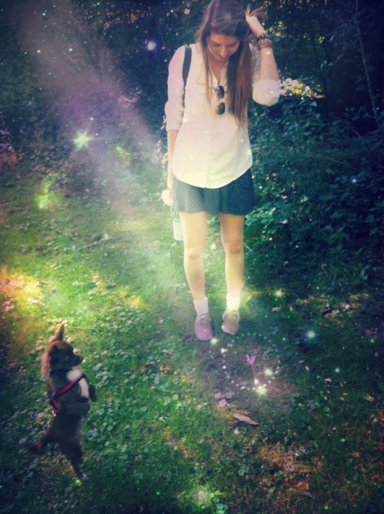 Today, we found a magical flower. ö__ö