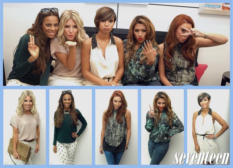 Hot British girl group The Saturdays stopped by to talk about their new album, but we couldn't stop crushing on their personal style, their hair—and their accents! #17visitors