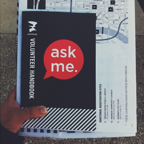 That time of year again #artprize #volunteer (Taken with Instagram)