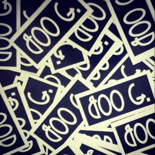 Stickers are in…get one with every purchase #strapback #hat (Taken with Instagram)
