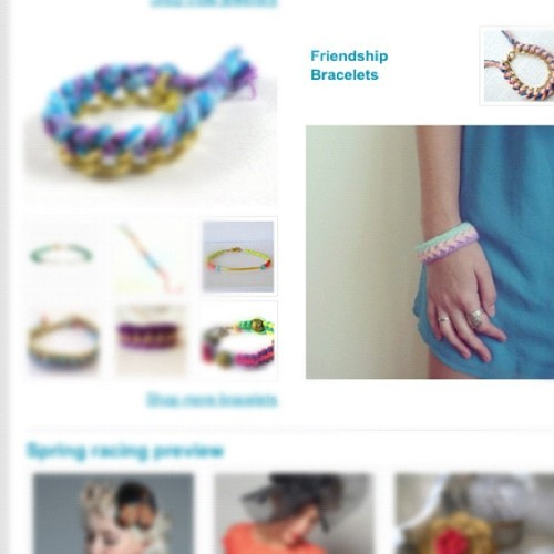 My CUExperiments soft bracelet made it on Etsy Australia's newsletter! Sweet!  (Taken with Instagram)