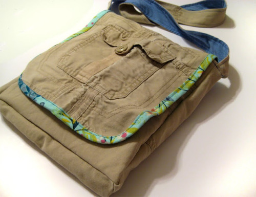 Cargo Pants Messenger Bag {How to} Found at: noodle-head