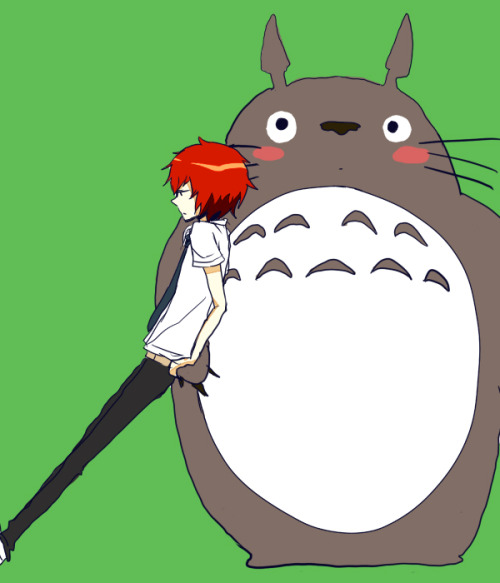 tsuritamathursdays:  TOTORO!  Just btw, my favorite…of his >.<