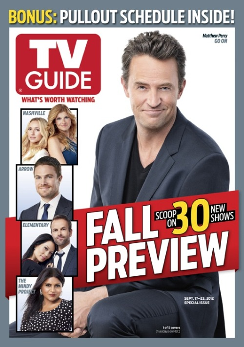 TV Guide fall preview cover (Go On)