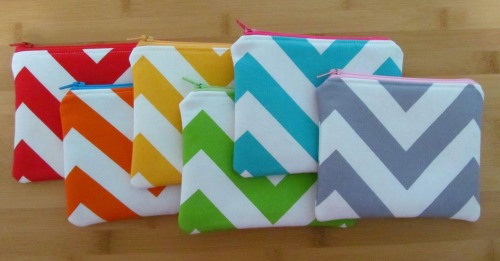 New chevron zipper pouches in the shop!