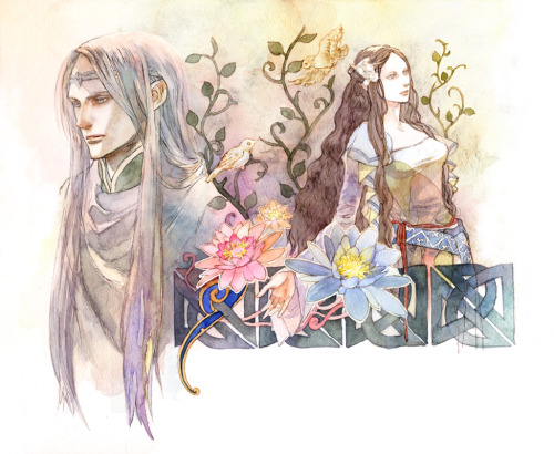 Elwë and Melian by ~daLomacchi