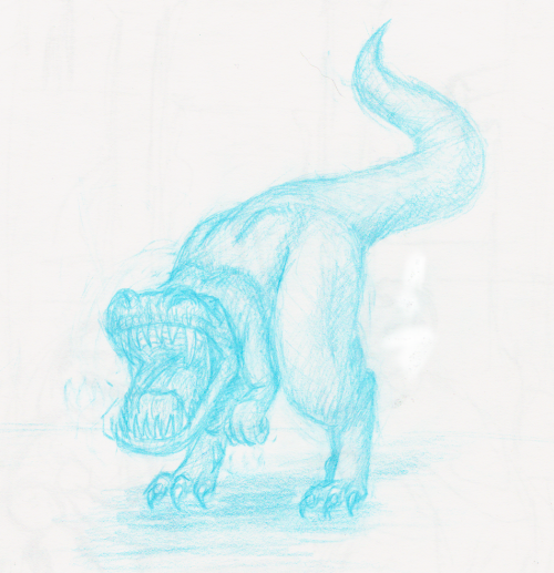 i drew a dinosaur roaring   because I could   hell yeah…