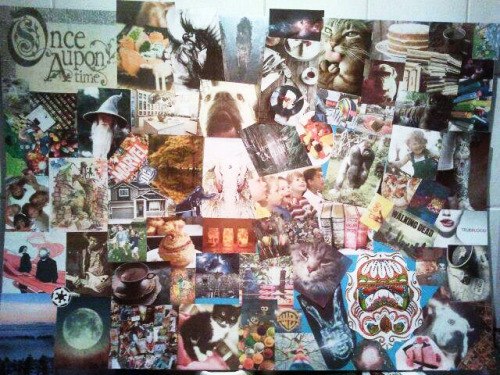 Not entirely finished collage for my presentation at college tomorrow.