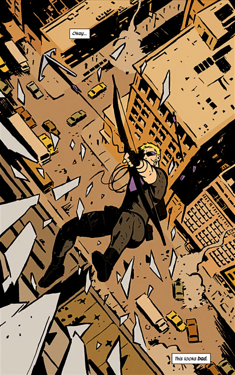 Okay…this looks bad. Hawkeye #1 (2012)