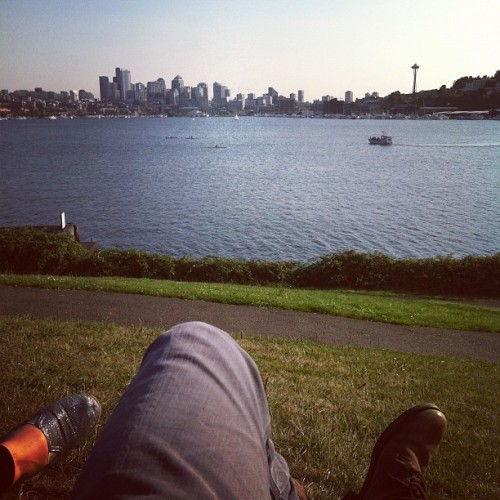 Gasworks (Taken with Instagram at Gas Works Park)
