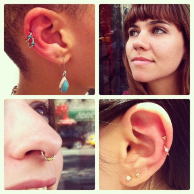 Piercings by the talented Evan McKnight.