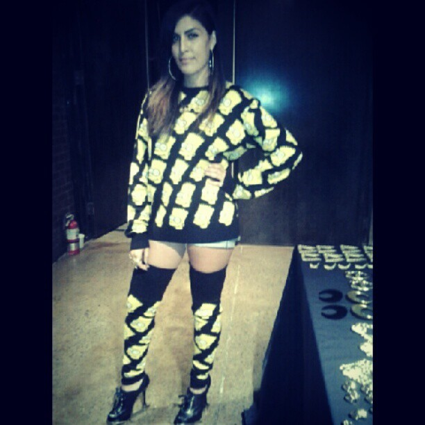 The fit earlier #jeremyscott #melodyehsani #nyfw thx @pabloolea  ! (Taken with Instagram)