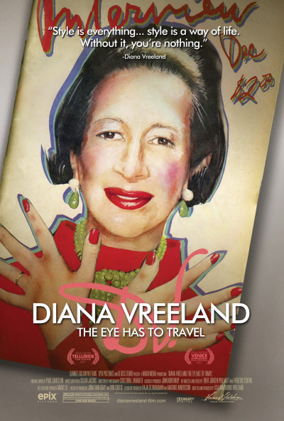 Check out the official poster for DIANA VREELAND: THE EYE HAS TO TRAVEL – In Theaters September 21st! www.dianavreeland-film.com