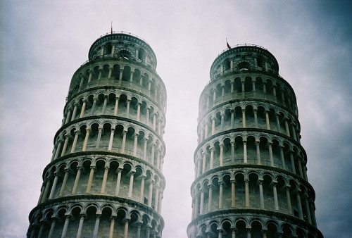 Twin towers by lissyloola on Flickr.