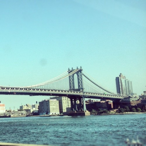 Manhattan bridge… tipsy. (Taken with Instagram at NYC)