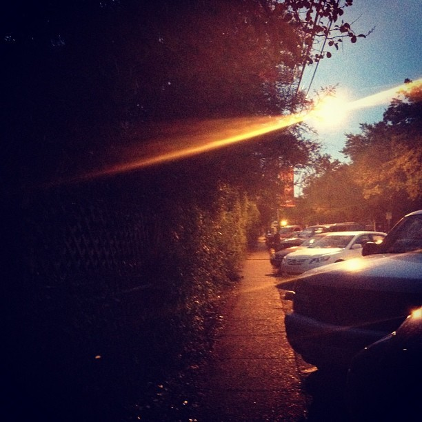 Walking home. (Taken with Instagram)