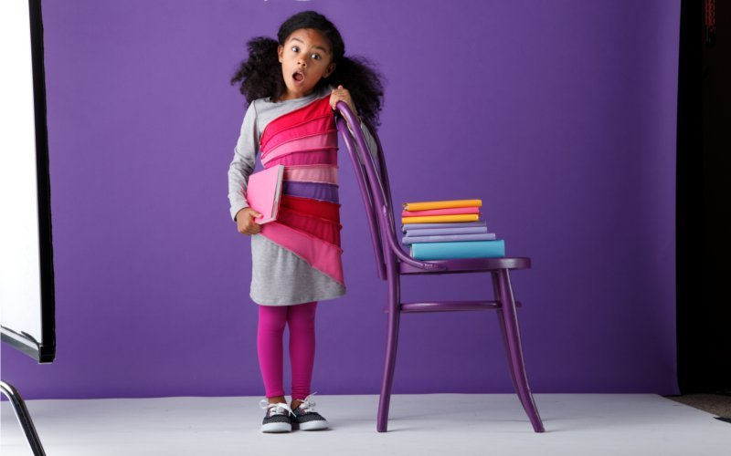 We can't stop giggling at this adorable outtake from a recent zulily photo shoot for Me & Ko
