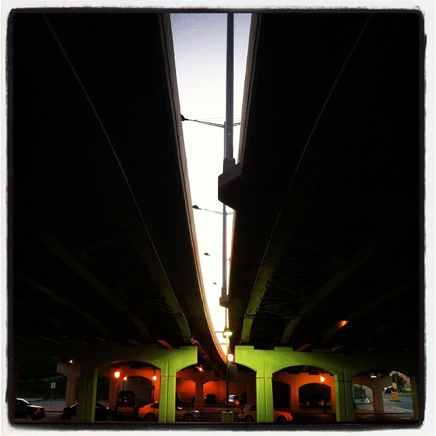 Beneath the Freddie-Sue. (Taken with Instagram at Douglass-Anthony Memorial Bridge)