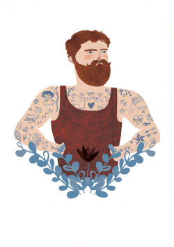 thedaintysquid:  Tattooed Gent by Lizzy Stewart on Flickr.