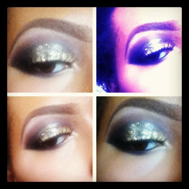 I got bored…only did one eye before taking it all off to run some errands lol 😏 #makeup #mua #MAC #glitter #boredom  (Taken with Instagram)