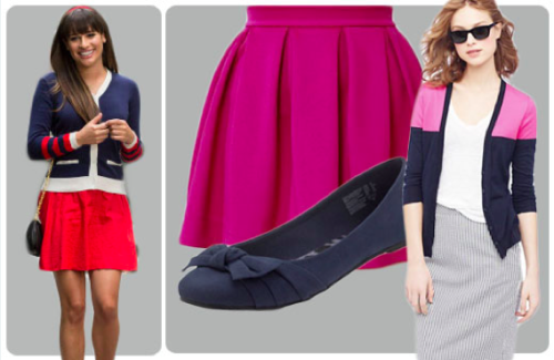 Dress for success! Snag style inspiration from Rachel Berry's A+ look. And be sure to catch the season 4 premiere of Glee at 9 p.m. tonight on Fox.