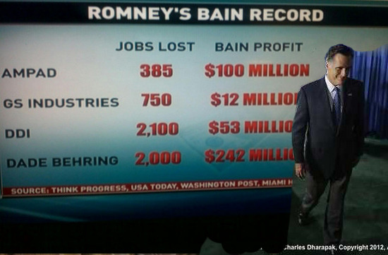Another great reader submission! progressiveoptionstv:  Mitt Smirking at Bain Capital Jobs Record