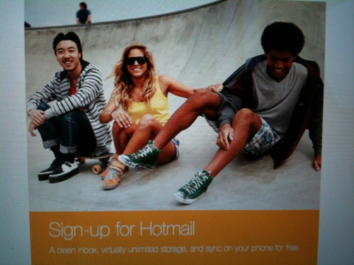 yeah, sign up for hotmail. You can be just as cool sitting in the bottom of the bowl like these idiots.