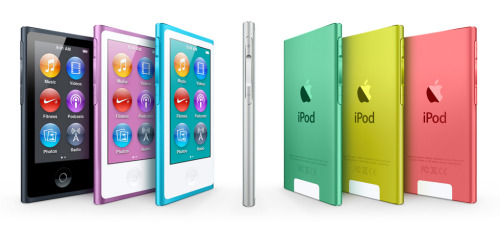 And a completely new NANO as well! (via Apple - iPod nano with Multi-Touch.)