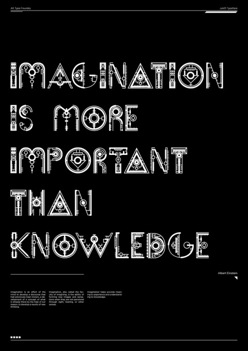 visualgraphic:  Imagination is more important  True