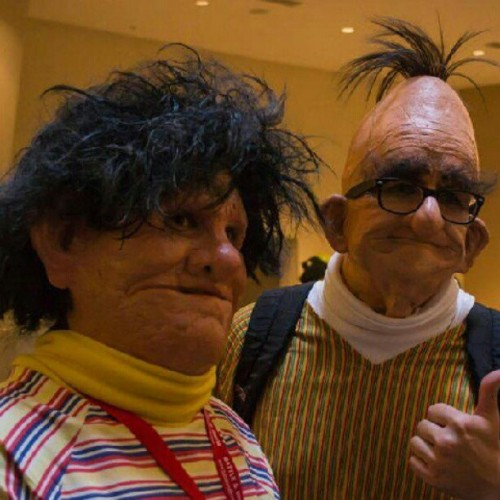 robtimusalanhintonian:  Bert and Ernie come to life #sesamestreet #Bert #Ernie #nightmares (Taken with Instagram)  No more sleeping. Ever.