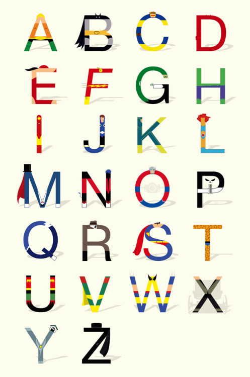 Superhero Alphabet ABC Superheroes (by Lishoffs)