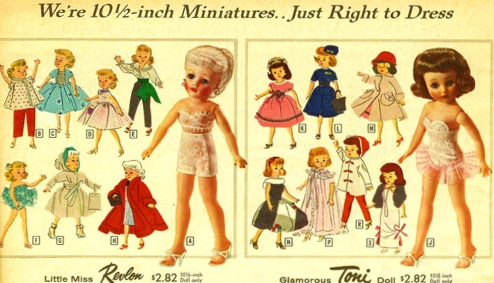 Little Miss Revlon and Toni Dolls Sears, 1958
