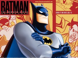 Title: Batman: The Animated Series (1992) Synopsis: You KNOW what Batman's about. Don't make me tell you because you already know. Everyone knows who Batman is and what he does. Why you should like it: IT'S THE GOD DAMN BATMAN THAT'S WHY. Some of the episodes are admittedly cheesy, and the visuals have dated a bit, but overall, this is probably the best superhero series ever made, and it's been awarded that title many times. It sneaks in some adult jokes every once in a while, much like the other DC cartoons have, and keeps grown-ups as entertained as the kids. Even the worst episode of this series is still enjoyable, and that says a lot. Availability: DVD, VHS, Digital Download.