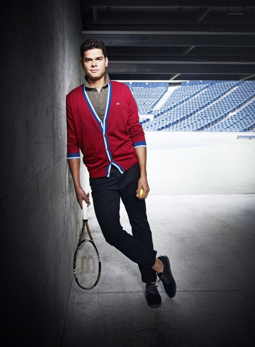Milos Raonic Lacoste for Harry Rosen. (x)