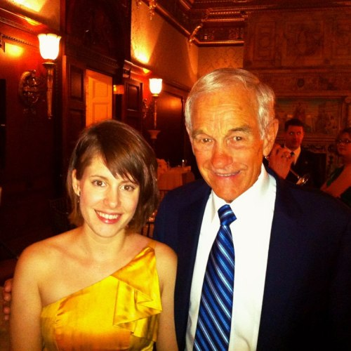 """Last night there was a fancy party for Ron Paul at the Library of Congress to thank him for his time as a Representative. I got a last minute """"we have empty seats and you're our fourth choice to fill them"""" invite and it was awesome."""