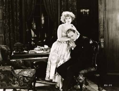 "valentinovamp:  Hope Hampton and Conrad Nagel in ""Lawful Larceny"" (1923)."