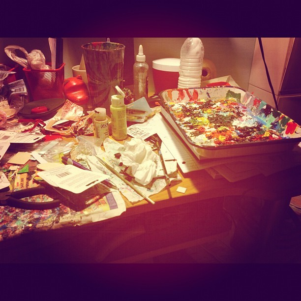 Messy but productive::getting down to business #theexotickaleidoscope (Taken with Instagram)