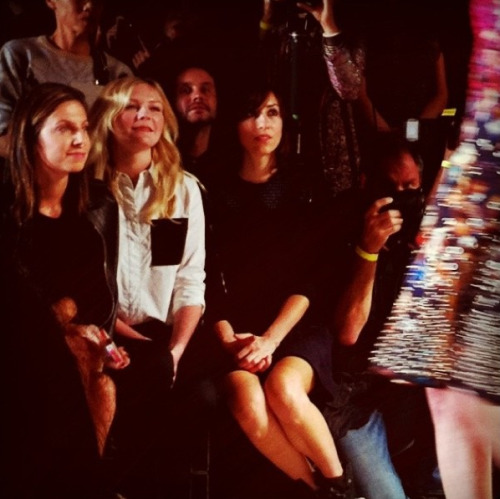 From the front row: Kirsten Dunst admiring the Proenza Schouler collection Photographed by Sheena Smith