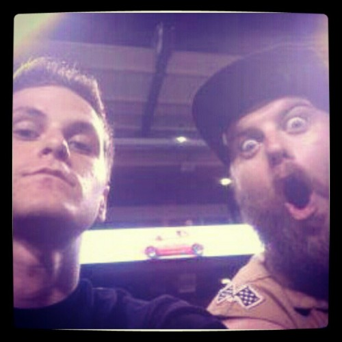 Kenny and his brother @pinner10  at the Angels game. #lonerangersmc #goangels #ca #anaheim #anacrime #lilbro (Taken with Instagram)