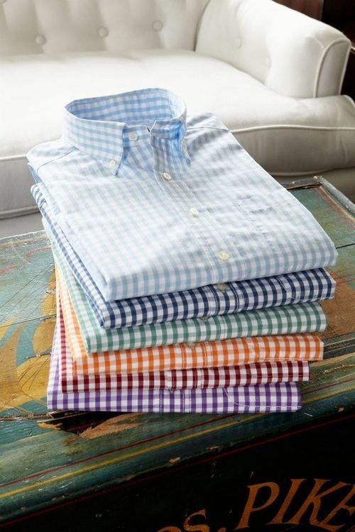Gingham shirts seem to be this season's staple, so get a few in various shades and see what looks you can conjure up