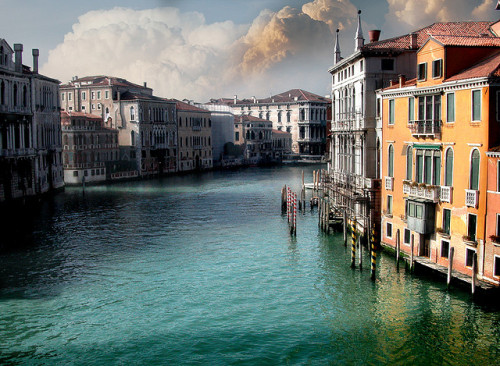 | ♕ |  View from Rialto Bridge - Grand Canal, Venice  | by © Giuseppe Desideri