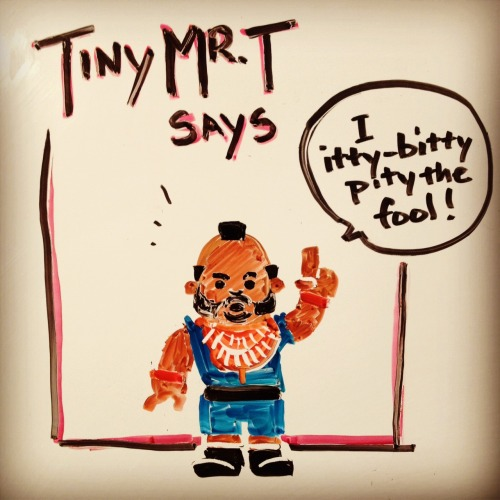 Tiny Mr. T says…