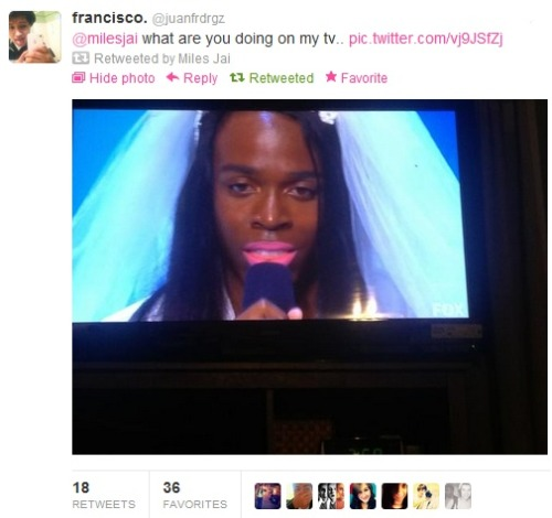 milesjai:  Apparently I was on XFactor today.